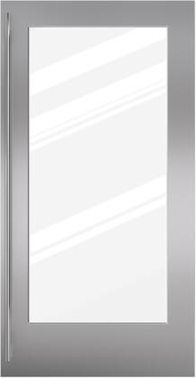 Sub-Zero 70302 Glass Door Panel with Tubular Handle for BI-36RG Single Flush Inset, in Stainless Steel