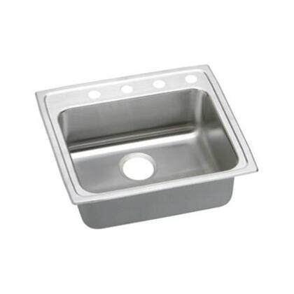 """Elkay LRAD221945 22"""" Top Mount ADA Compliant Single Bowl 18-Gauge Stainless Steel Sink"""