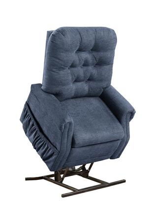 MedLift 1555PEBL Contemporary Fabric Wood Frame  Recliners