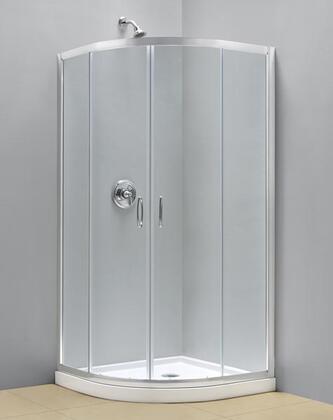 DreamLine DL-615 Prime Frameless Sliding Shower Enclosure, Base and QWALL-4 Shower Backwalls Kit