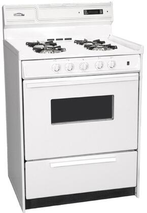 "Summit WNM6307KW 24""  White Gas Freestanding Range with Open Burner Cooktop, 2.92 cu. ft. Primary Oven Capacity, Broiler"