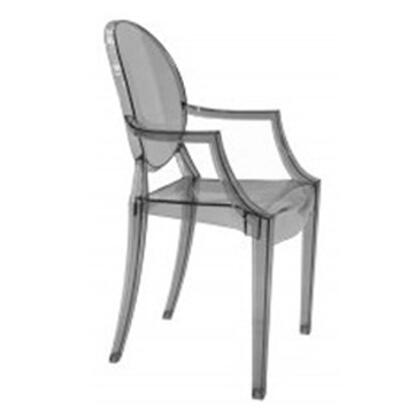 Fine Mod Imports FMI1130SMOKE Armchair Not Upholstered Transparent acrylics Frame Accent Chair