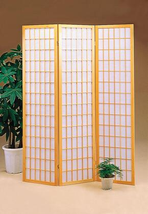 """Coaster Folding Screens 52"""" Folding Floor Screen with Three Panels, Asian Design and Wood Construction in"""