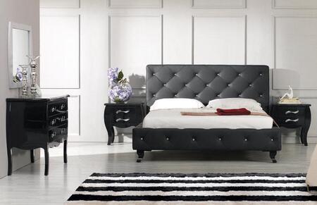 VIG Furniture VGJYMONTECARLOBLKCQDMN Modrest Monte Carlo Que