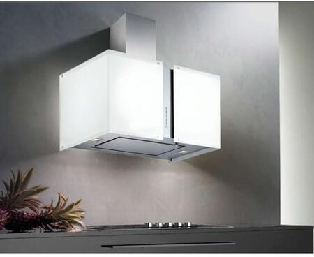 Futuro Futuro WLMURSNOW Murano Snow Series Range Hood with 940 CFM, 4-Speed Electronic Controls, Delayed Shut-Off, Filter Cleaning Reminder, Internal Whisper-Quiet Tangential Blower, and in White