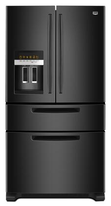 Maytag MFX2570AEB Ice2O Series  French Door Refrigerator with 25 cu. ft. Total Capacity 4 Glass Shelves