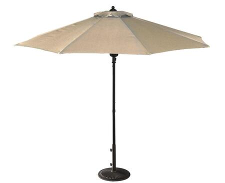 Blue Wave NU5419 Cabo Auto-Open 9' Octogon Market Umbrella with Push-Button Spring, Pole, Single Wind Vent and Storage Bag: