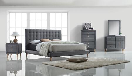 Acme Furniture Valda 5 Piece King Size Bedroom Set