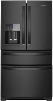 """Whirlpool WRX735SDHx 36"""" French Door Refrigerator with 24.7 cu. ft. Capacity, External Drawer, Measured Filled Water Dispenser, LED Lighting and Adaptive Defrost, in"""