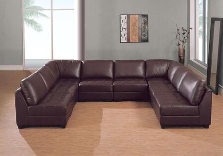 Global Furniture USA F215SEC8  Leather Sofa