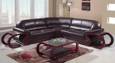 Global Furniture USA A086BRSectionalLeft  Leather Sofa