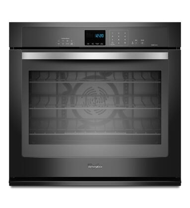 "Whirlpool WOS92EC0AE 30"" Single Wall Oven, in Black with Silver Handle"
