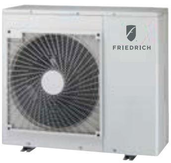 Friedrich MRxDEY3JM Mini Split Outdoor Unit with x Cooling BTU Output, Inverter Technology, Soft Start Compressor and DiamonGold Advanced Corrosion Protection, in White