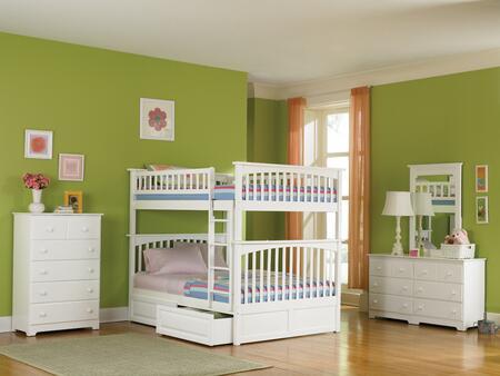 Atlantic Furniture YBBCOLUMBIAFULLFULLWH Columbia Series  Full Size Bed