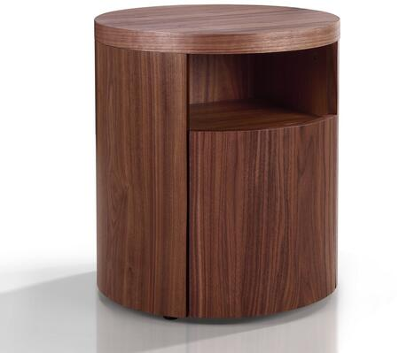 Casabianca TC0258NWAL Area Series Round Wood Night Stand