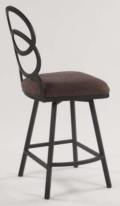 Chintaly ALDO Ring Back Cushioned Stool Finish in Matte Silver Black