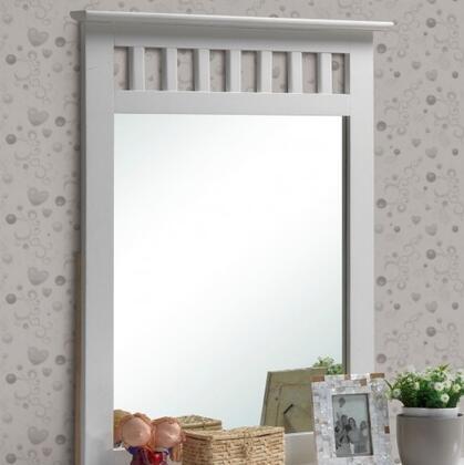 Donco 929WH  Rectangular Portrait Dresser Mirror