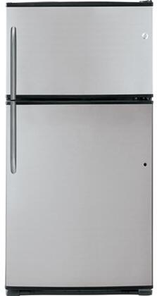 GE GTH21SBXSS  Freestanding Top Freezer Refrigerator with 21.0 cu. ft. Total Capacity 4 Glass Shelves 6.1 cu. ft. Freezer Capacity