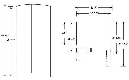 Ge Profile Pse25kghww 36 Inch Side By Side Refrigerator