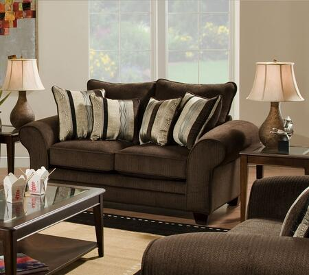 Chelsea Home Furniture 1837023920 Clearlake Series Fabric Stationary with Wood Frame Loveseat