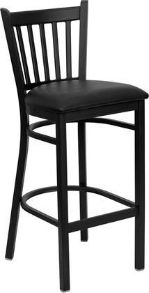 "Flash Furniture HERCULES Series XU-DG-6R6B-VRT-BAR-XXV-GG 30.25"" Heavy Duty Vertical Back Metal Restaurant Bar Stool with Vinyl Seat, Commercial Design, and 18 Gauge Steel Frame"
