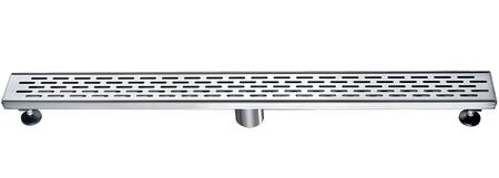 """Alfi ABLD32X 32"""" Modern Linear Shower Drain with Stainless Steel, 2 Drain and Contemporary Design in Stainless Steel"""