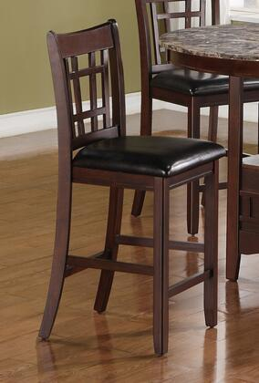 "Coaster Lavon Collection 26"" Counter Height Stool with Padded Upholstered Seat, Gridded Back, Stretcher Footrest and Sleek Wood Legs in"