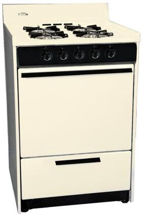 "Summit SLM6107C 30"" Gas Freestanding Range with Open Burner Cooktop, 3.69 cu. ft. Primary Oven Capacity, Broiler in Bisque"