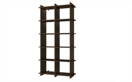 Accentuations 14AMC Accentuations by Manhattan Comfort Convenient Gisborne Bookcase 1.0 with 10 - Shelves