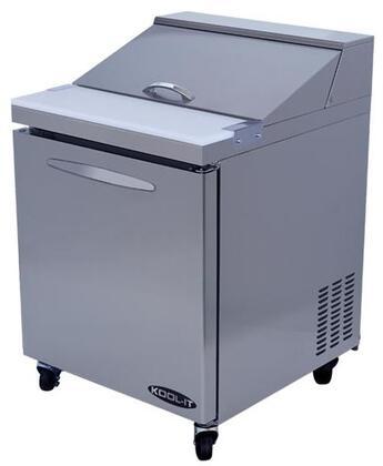 """Kool-It KSTx """" Sandwich Prep Table with cu. ft. Capacity, Doors, Shelves, Pans, HP, in Stainless Steel"""