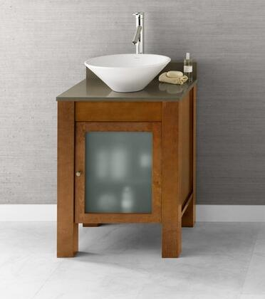 "Ronbow 0325231 Devon 23"" Wood Vanity Cabinet with Single Frosted Glass Door and Adjustable Shelf:"
