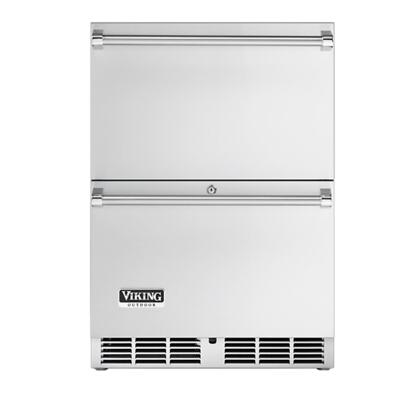 Viking VRDO1240D Outdoor Series Compact Refrigerator with 5.3 cu. ft. Capacity in Stainless Steel