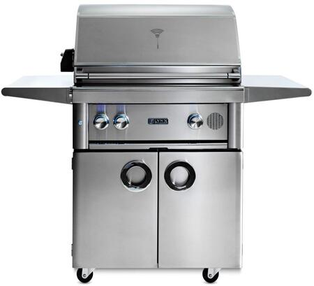 "Lynx SMART30Fx 30"" Professional Series Freestanding Smart Grill on Cart, 2 Trident ProSear2 Infrared Burners, 840 sq. in. Cooking Surface, Smart Wifi Connectivity, Rotisserie and Backlit Blue LED Knobs, in Stainless Steel"
