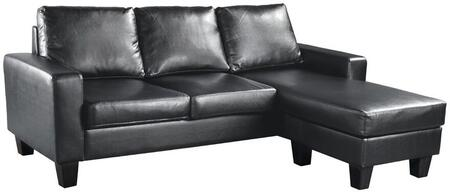 Glory Furniture G213SCH  Stationary Faux Leather Sofa
