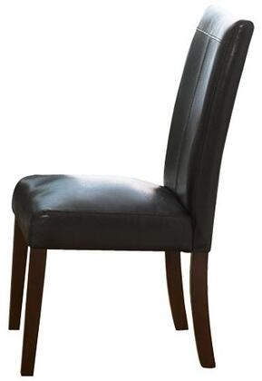 Standard Furniture 10804 Contemporary Faux Leather Wood Frame Dining Room Chair