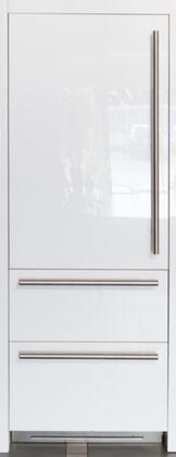 """Fhiaba FI30BDI- 30"""" Integrated Series Built In Bottom Freezer Refrigerator with 16 cu. ft. Capacity, Double Freezer Drawer, TriMode, Ice Maker, TotalNoFrost, OptiView and ProVent: Panel Ready with"""