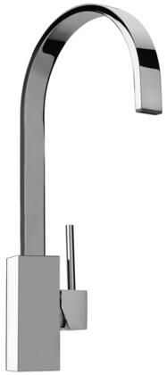 Jewel Faucets 25575XX Single Hole Kitchen Faucet with Swivel Ribbon Arched Spout