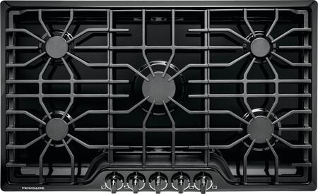 "Frigidaire FFGC3626S 36"" ADA Compliant Built-In Gas Cooktop With 5 Sealed Burners, 51000 BTU Total Output, Continuous Grates, Low Simmer Burner, And Color-Coordinated Control Knobs:"