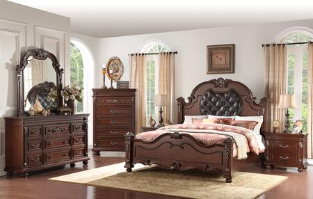 Cosmos Furniture Destiny 6 Piece King Size Bedroom Set
