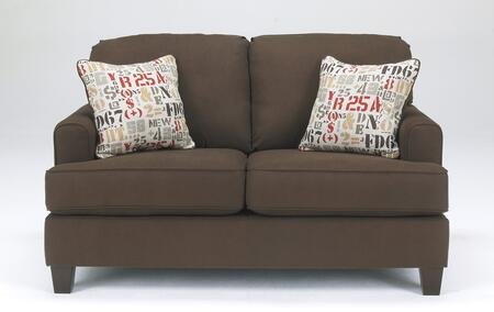 Loveseat Front View - Chocolate