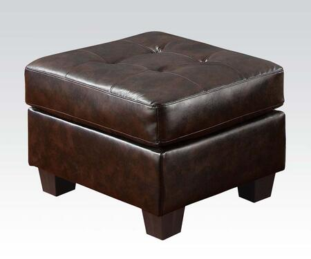 Acme Furniture 15073 Platinum Series Contemporary Bonded Leather Wood Frame Ottoman