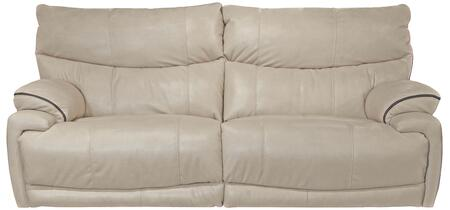 """Catnapper Larkin Collection 1391 90"""" Power Lay Flat Reclining Sofa with Faux Leather Upholstery and Pub Back Design in"""