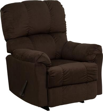 Flash Furniture Contemporary Top Series AM-9320-41XX-GG Microfiber Rocker Recliner with High Quality Leggett and Platt Mechanisms and Dacron Wrapped 1.8 Resiliency Foam
