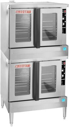 "Blodgett Zephaire-100-G-ES 39"" Zephaire Series Energy Star Standard Depth Gas Convection Oven with Rigid Insulation, Porcelain Liner, Dependent and Heavy Duty Doors:"