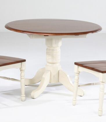 """AAmerica 6100 British Isles 42"""" Dropleaf Table with Wood on Wood Glides, 20% NC Top Coat Sheen and Solid Hardwood Construction in"""