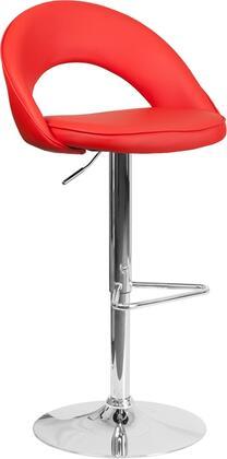 Flash Furniture CH132491REDGG Residential Vinyl Upholstered Bar Stool