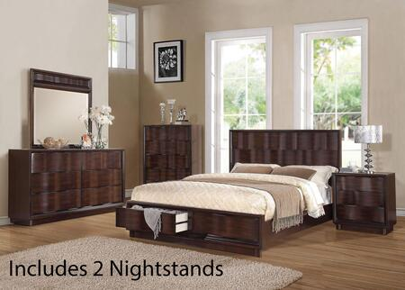 Acme Furniture 20520Q6PCSET Travell Queen Bedroom Sets