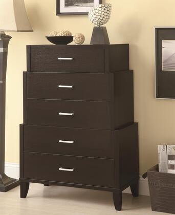 Coaster 950160 Accent Cabinets Series Freestanding Wood 5 Drawers Cabinet