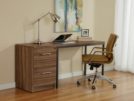 Unique Furniture 1C100017P Parsons Desk with File Cabinet