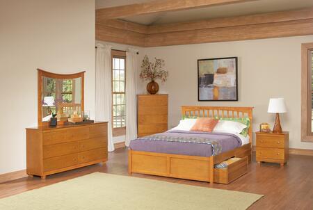 Atlantic Furniture BROFPAWFL  Full Size Bed